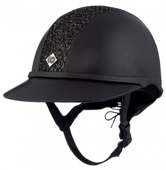 Charles Owen SP8 Sparkly Black Leather Look